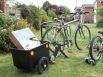 It fits on a bike trailer!